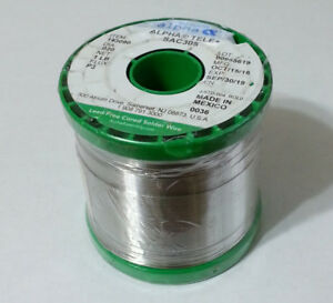Silver 3 Sac305 Alpha Solder 020 96 5 sn 3 ag 5 cu Water Soluble 144118 1lb