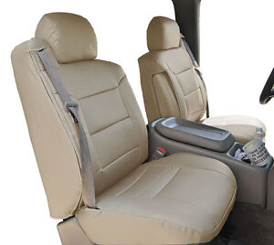 Chevy Silverado 2003 2006 Beige S Leather Custom Made Front Seat