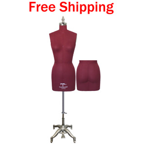 Female Dress Form Sewing Mannequin W Adjustable Height Collapsible Shoulders Sz4