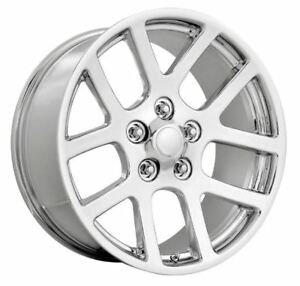 4 New 22x10 5x5 5 5x139 7 Dodge Ram Srt10 25 Chrome Replica Wheel
