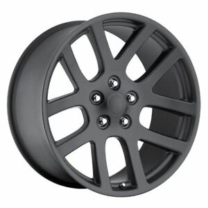 1 New 22x10 25 Dodge Ram Srt10 Satin Black 5x5 5 5x139 7 Replica Wheel Rim