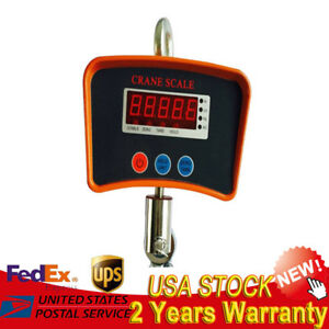 500kg Hanging Scale Digital Backlight Fishing Luggage Electronic Weight Kg Lb Us