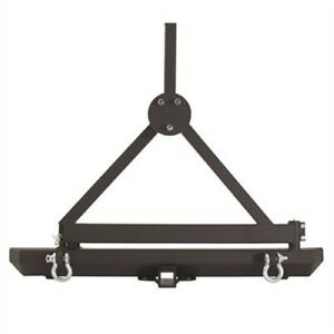 Smittybilt 76651d Src Classic Rear Bumper With D Rings Hitch Tire Carrier