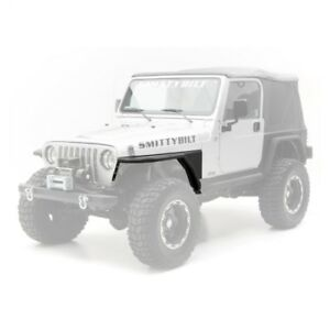 Smittybilt 76873 Xrc Armor Front Tube Fenders With 3 Flare For 97 06 Jeep Tj