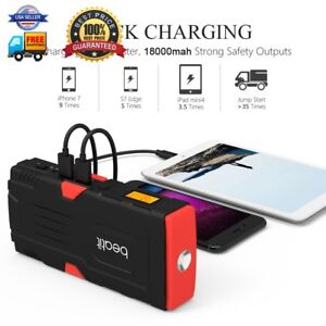 Beatit 800a Peak 18000mah Portable Car Jump Starter With Smart Jumper Cables Up