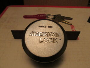 American A2000 Hidden Shackle Padlock Used