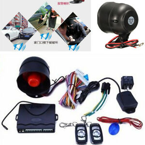 Universal Black 1 way Car Alarm Keyless Entry Security System With Remote New