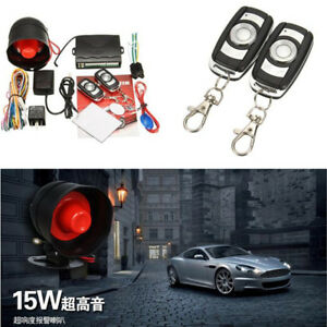 Alarm Security Protection Keyless Entry System With 2 Remotes For Vehicle Car