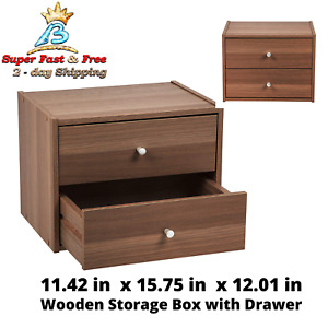 Two Drawer Wood File Cabinet Up To 25lbs Office Home Storage Furniture Organizer