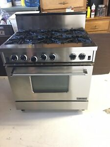 Beautiful Stainless Steel Garland 6 burner Commercial Stove