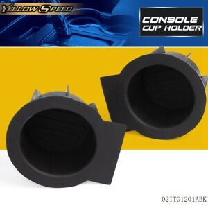 2 Pcs Front Console Cup Holder Insert Liner For Ford F 150 Expedition Navigator
