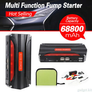 68800mah Portable Car Jump Start Pack Booster Charger Power Bank Battery Latest