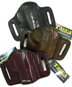 TAGUA PREMIUM OWB Open Top Leather Belt Holster for 3