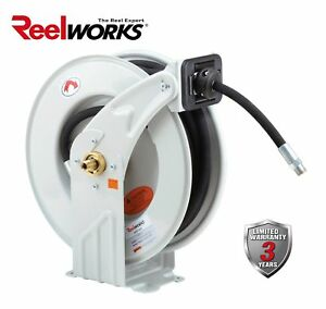 Reelworks Heavy Duty Oil Spring Driven Hose Reel 1 2 X 50 Ft S a e dual