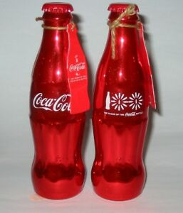 Coca Cola 100th Anniversary Lot Of 2 Bottles Limited Edition Numbered RARE