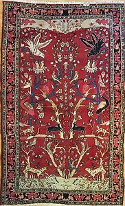 Gorgeous Gholtogh 1930s Antique Bijar Rug Persian Carpet 4 4 X 6 11 Ft
