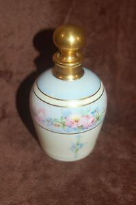 Antique Hand Painted Porcelain Perfume Bottle By W Pickard Signed Rare