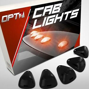 Led Smoked Cab Lights Low Profile Roof Clearance Lamp For F 150 Pickup Amber