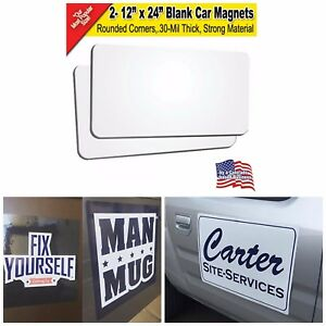 Blank Car Magnets Printable Magnet Sheet Sign Making Supplies 12 X 24 2 Pack