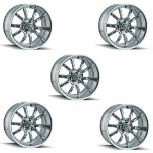 Ridler 650 2173c Set Of 5 Style 650 20x10 5x127mm 0 Offset Chrome Rims