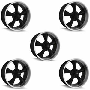 Ridler 695 8973mb Set Of 5 Style 695 18x9 5 5x127mm 6 Offset Matte Black Rims