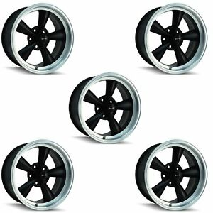 Ridler 675 7965mb Set Of 5 Style 675 17x9 5 5x114 3mm 5 Offset Matte Black Rims