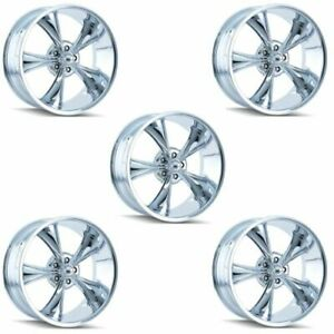 Ridler 695 7765c Set Of 5 Style 695 17x7 5x114 3mm 0 Offset Chrome Rims