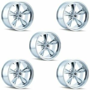 Ridler 675 7965c Set Of 5 Style 675 17x9 5 5x114 3mm 5 Offset Chrome Rims