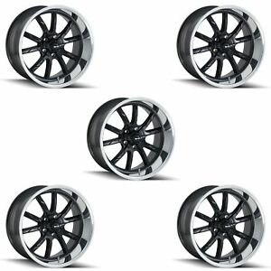 Ridler 650 5773mb Set Of 5 Style 650 15x7 5x127mm 0 Offset Matte Black Rims