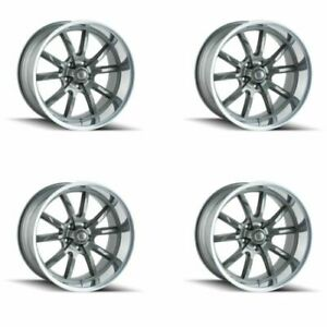 Ridler 650 8861g Set Of 4 Style 650 18x8 5x120 65mm 0 Offset Grey Rims