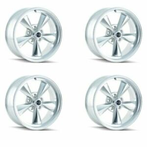 Ridler 675 5861p Set Of 4 Style 675 15x8 5x120 65mm 12 Offset Polished Rims