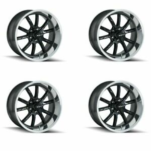 Ridler 650 8861mb Set Of 4 Style 650 18x8 5x120 65mm 0 Offset Matte Black Rims