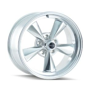 Ridler 675 5765p Single Style 675 15x7 5x114 3mm 0 Offset Polished Rim