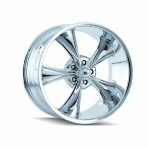 Ridler 695 22961c Single Style 695 22x9 5x120 65mm 0 Offset Chrome Rim