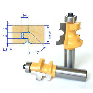2 Pc 1 2 Shank Wood 5 8 3 4 Floor With Nail Slot Router Bit Set Sct 888