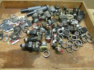 1 Lot Push Bttns Legend Plates Spacers Misc