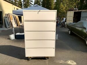 file Cabinet 5 Drawer Lateral Steelcase 42 w Lock Keys Wedeliverlocallynorcal