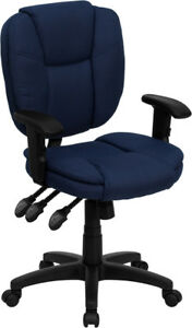 Pillow Top Multi function Swivel Tilt Home Office Desk Chairs With Arms 4 Colors