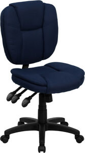 Pillow Top Armless Multi function Swivel Tilt Home Office Desk Chairs 4 Colors