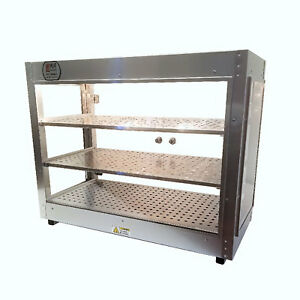 Heatmax Commercial Countertop Food Warmer Display Case With Water Tray 30x15x24