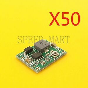 50 Pcs Mini 3a Dc dc Converter Adjustable Step Down Power Supply Module