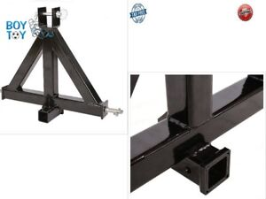 Black Heavy Duty 3point 2 receiver Trailer Hitch Category 1 Tractor Tow Drawbar