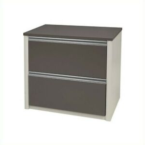 Filing Cabinet File Storage 30 Lateral Wood 2 Drawers In Slate And Sandstone