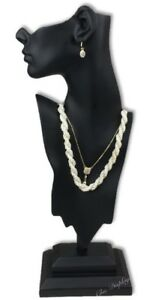 19 1 2 Poly resin Mannequin Earring Necklace Display Bust Combo Jewelry Display