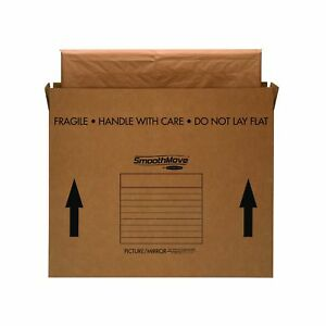 Bankers Box Smoothmove Moving Boxes For Tvs Pictures And Mirrors Medium 37 X