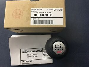 2004 2019 Subaru Impreza Wrx Sti 6 Speed Mt Sti Shift Knob Oem New C1010fg100