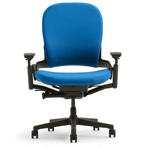 New Large Steelcase Leap Plus Adjustable Desk Chair Buzz2 Blue Fabric 500 Lb