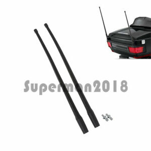 13 Motorcycle Radio Antenna Masts Am Fm Xm For Harley 1985 2013 Touring 1 Pair