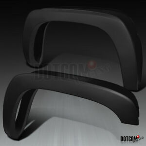 For 99 06 Chevy Silverado Gmc Sierra Black Factory Oe Style Fender Flares