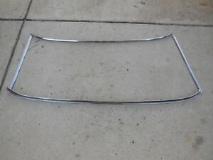 1967 1968 Mercury Cougar Xr7 Eliminator Front Windshield Stainless Trim Molding